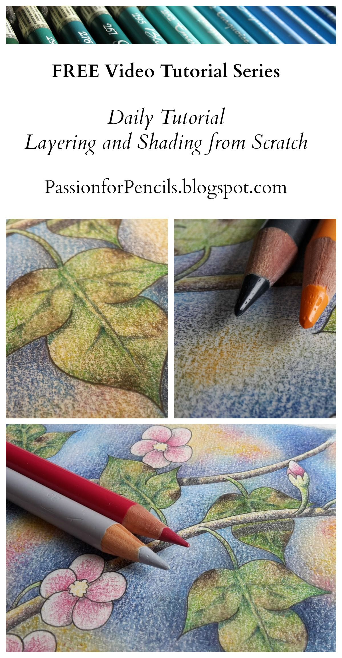 Daily Tutorial Day 1 Layering And Shading Color Pencil Art