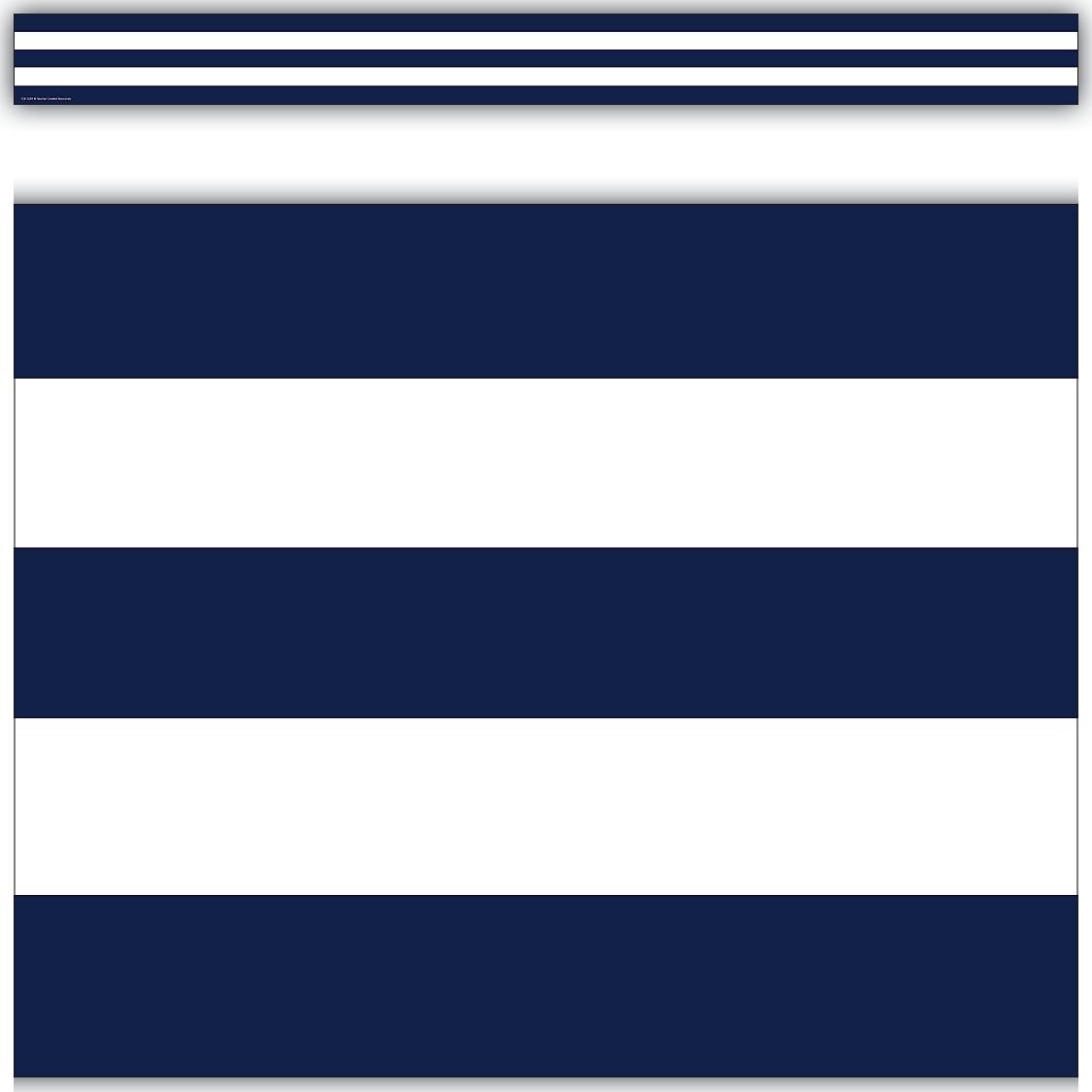 Navy Blue Amp White Stripes Straight Border Trim Blue