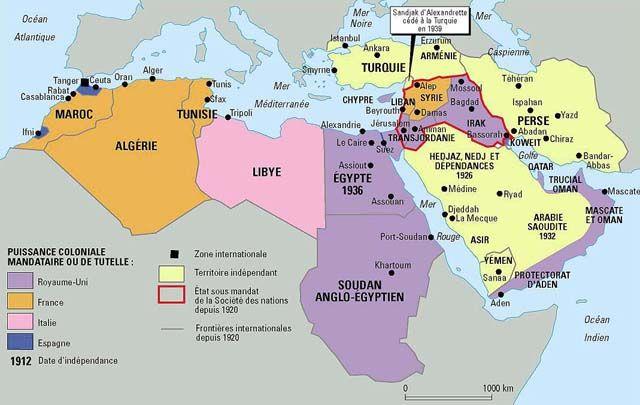 Le Proche Orient En 1939 Par Philippe Rekacewicz Le Monde Diplomatique Aout 1992 Histoire Islam Proche Orient Histoire Contemporaine