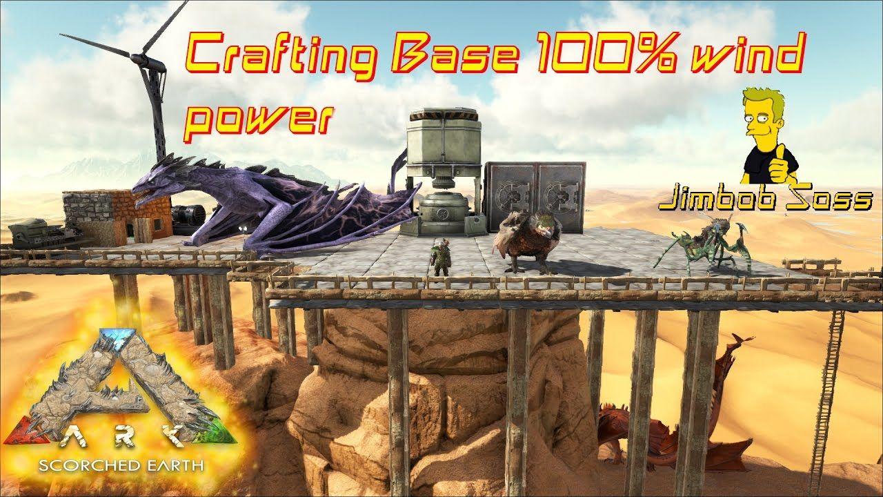 ARK Desert Crafting Base 100% wind power | Ark Survival 3