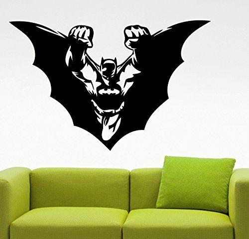Batman wall sticker super hero vinyl decals movie stickers kids room decor bedroom art waterproof also rh pinterest