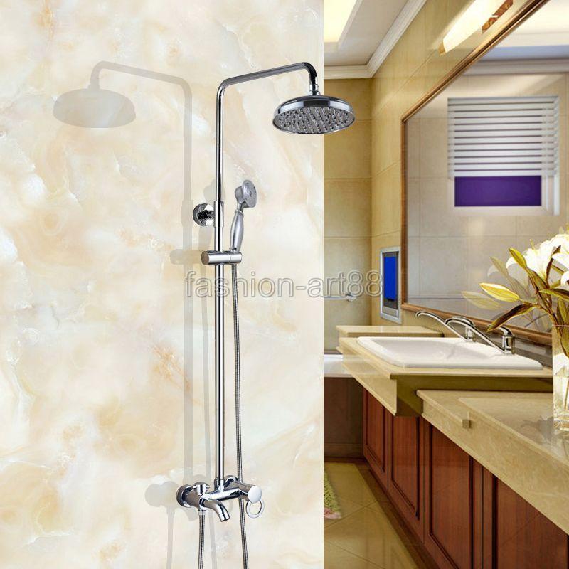 Aliexpress.com : Buy Wall Mounted Bathroom Rain Shower Faucet Set ...