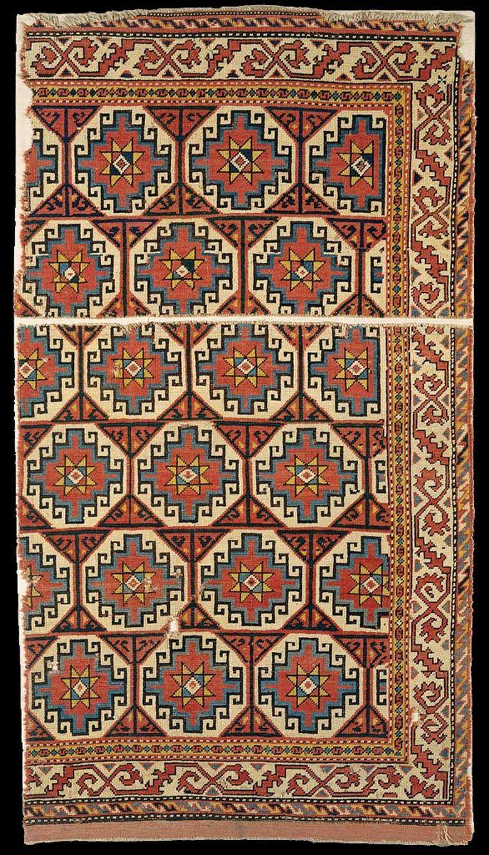 Memling rug, fragment, Western Anatolia, 15th century. Iparművészeti Múzeum, Budapest
