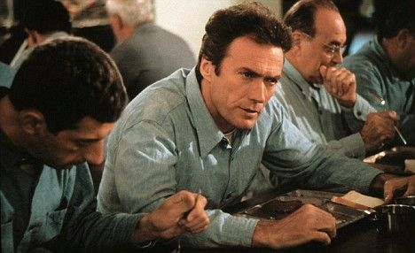 Clint Eastwood as Frank Morris, only man ever to Escape From Alcatraz.