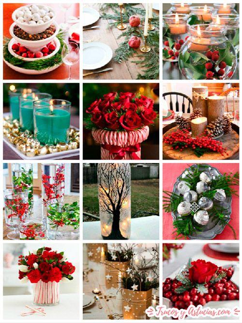Centros de navidad caseros para decorar la mesa belleza pinterest navidad manualidades - Adornos de navidad caseros faciles ...