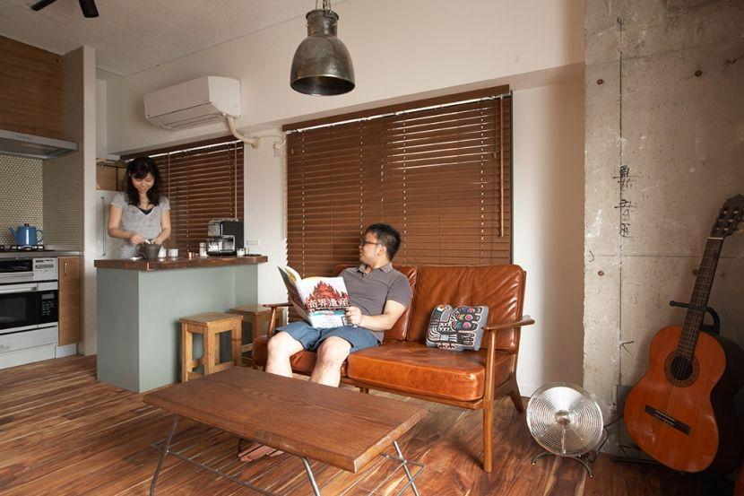 リビング キッチン2 ヴィンテージマンションで渋カッコよく暮らす