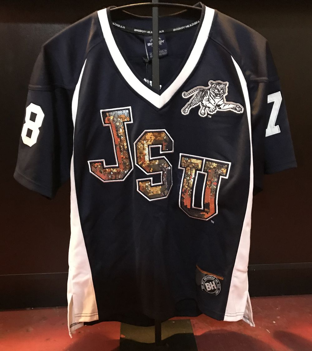 Jackson State University Football Jersey Ladies Brothers And Sisters Greek Store Jackson State University Jackson State University Football Jackson State