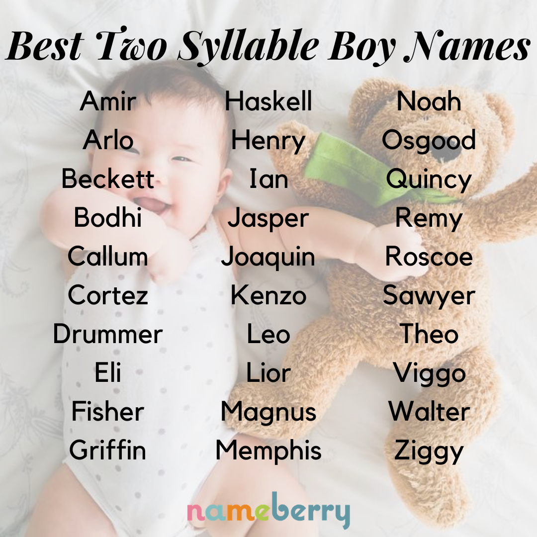 135 Best Two Syllable Boy Names