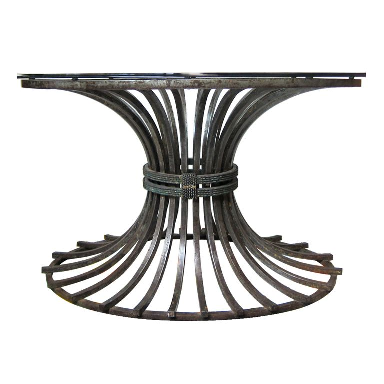 Iron Center/Dining Table - Attrib Arturo Pani Iron and Classic