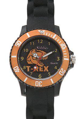 Mio figlio ADORA questo orologio. Lo toglie solo per la lezione di nuoto! Sta imparando a leggere l'ora ed è facile con questo orologio. Orologio bambino ragazzo, quarzo analogico, impermeabile, con DINOSAURO, meccanismo di qualità Seiko, batteria Sony, in confezione regalo per compleanno , Kiddus KI10111