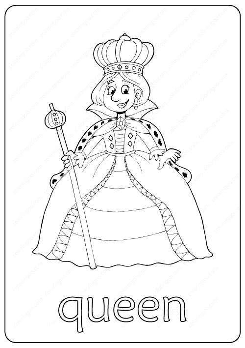 - Printable Queen Coloring Page – Book PDF Coloring Pages, Coloring Books,  Free Coloring Pages