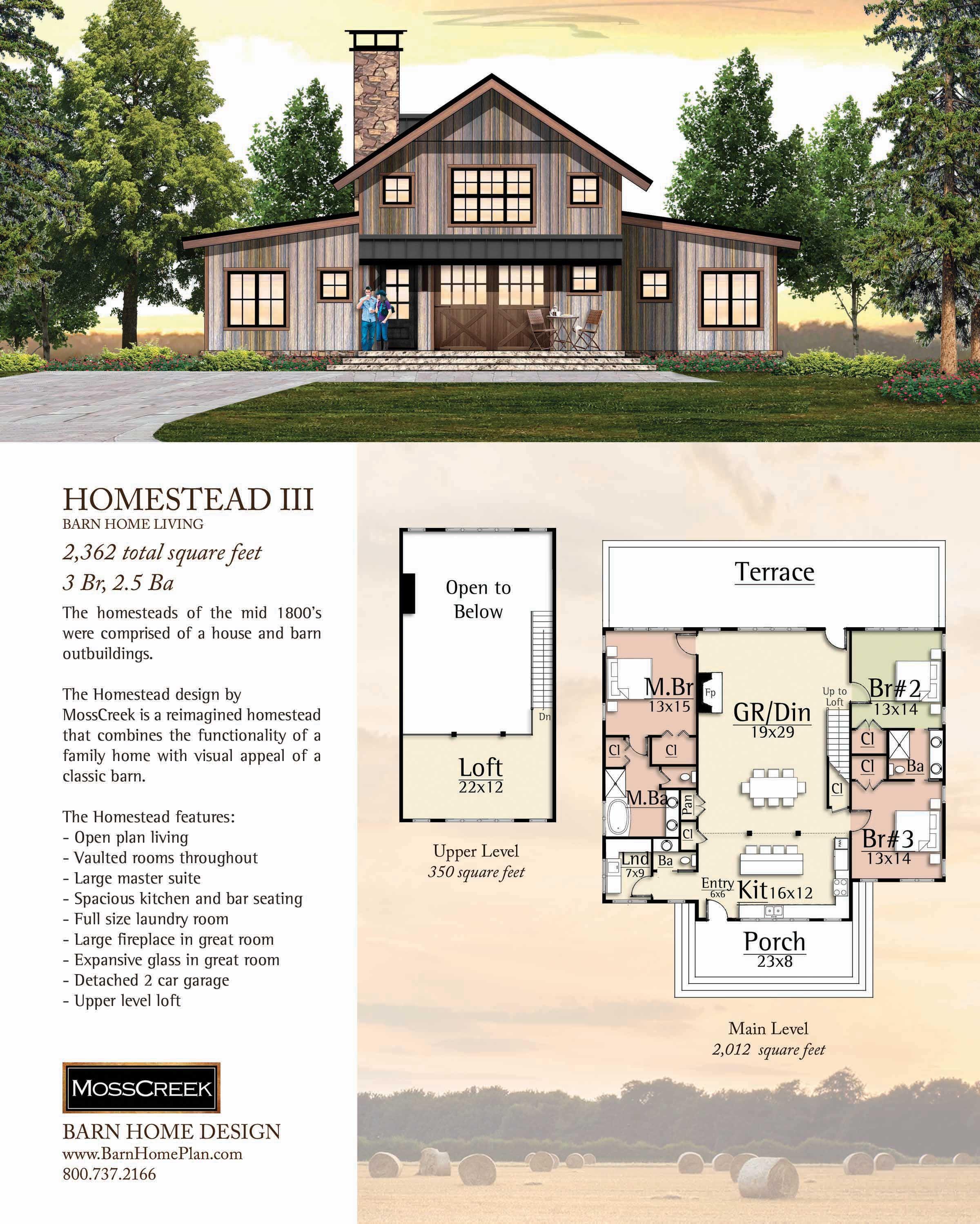 Homestead Iii Barn Style House Plans Barn House Plans Barn Homes Floor Plans