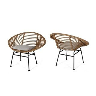 Superb San Antonio Outdoor Woven Faux Rattan Chairs With Cushions Gmtry Best Dining Table And Chair Ideas Images Gmtryco