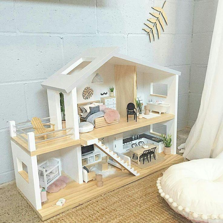 Modern Dollhouse Inspiration, DIY Dollhouse Furniture