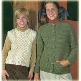 Sweaters & Vests Knit & Crochet Patterns for Preteen Boys & Girls