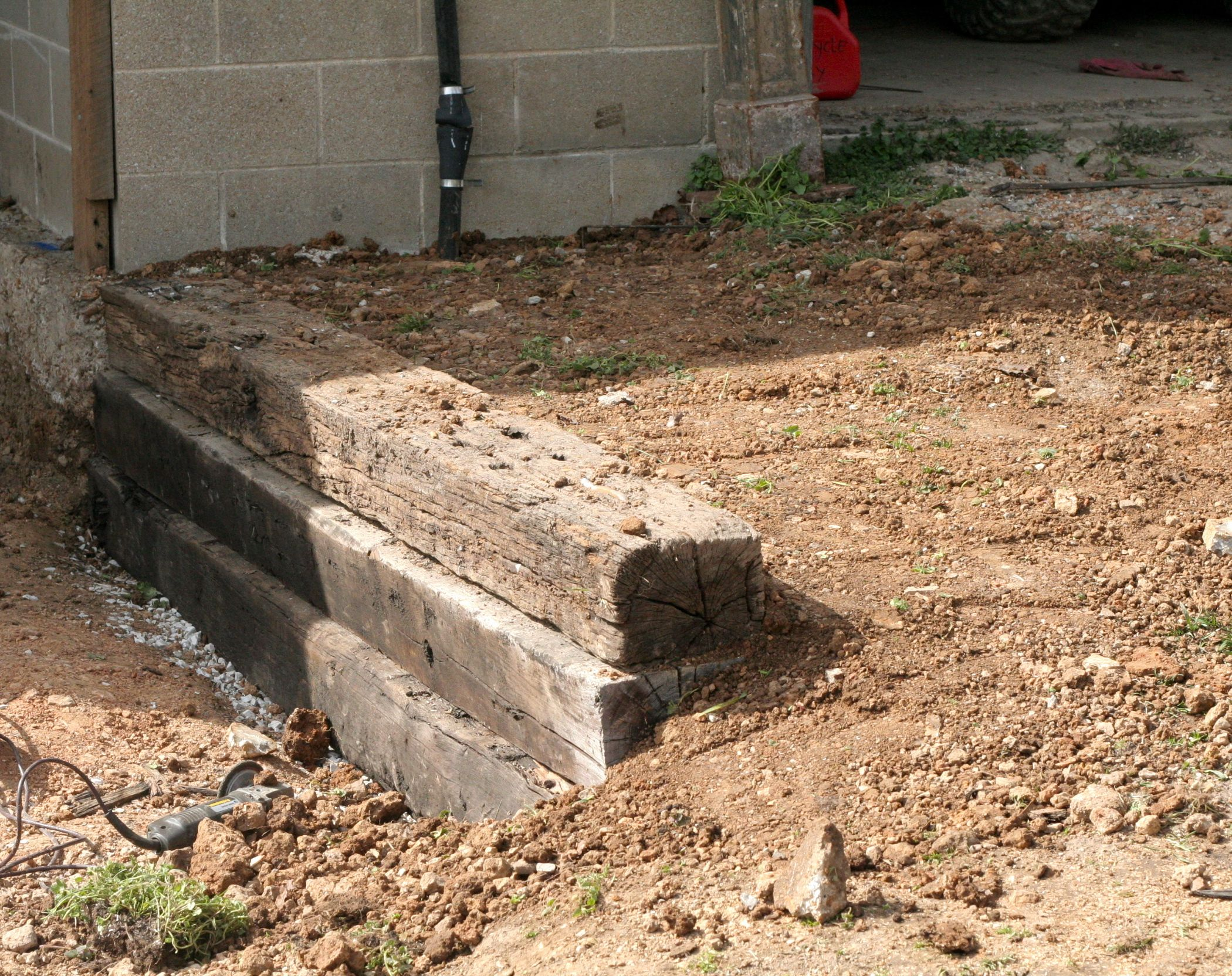 How To Build A Railroad Tie Retaining Wall Railroad Ties