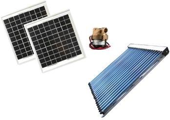 Kit chauffage solaire 12 volts pour serre de 20 30 m avec capteur solaire tubes sous vide - Chauffage 12 volt ...