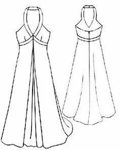 Moldes para imprimir de vestidos de fiesta