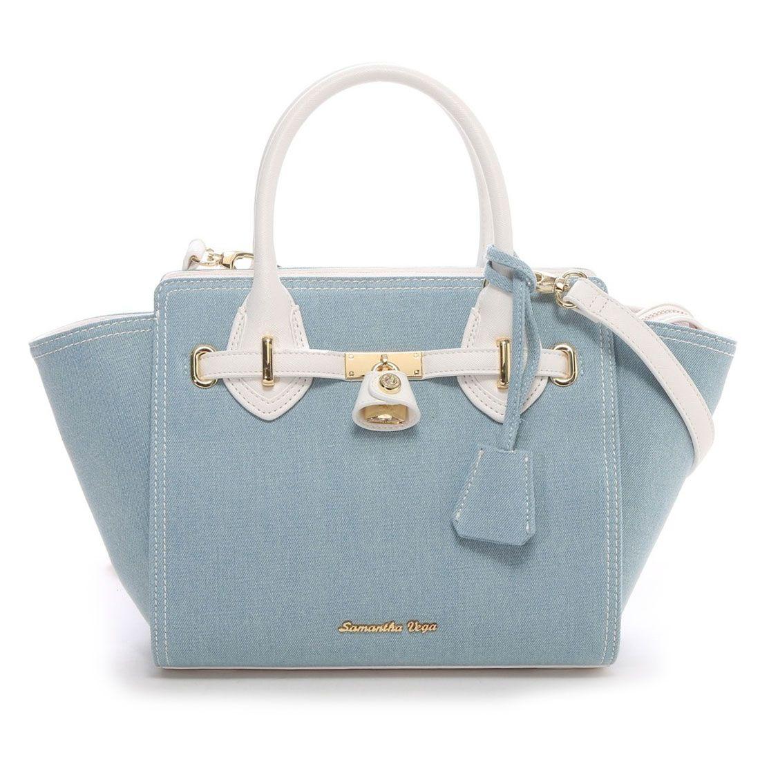 31b508be9428 Samantha Thavasa サマンサベガ デニムバチェロ 小(ライトブルー) -靴とファッションの通販サイト