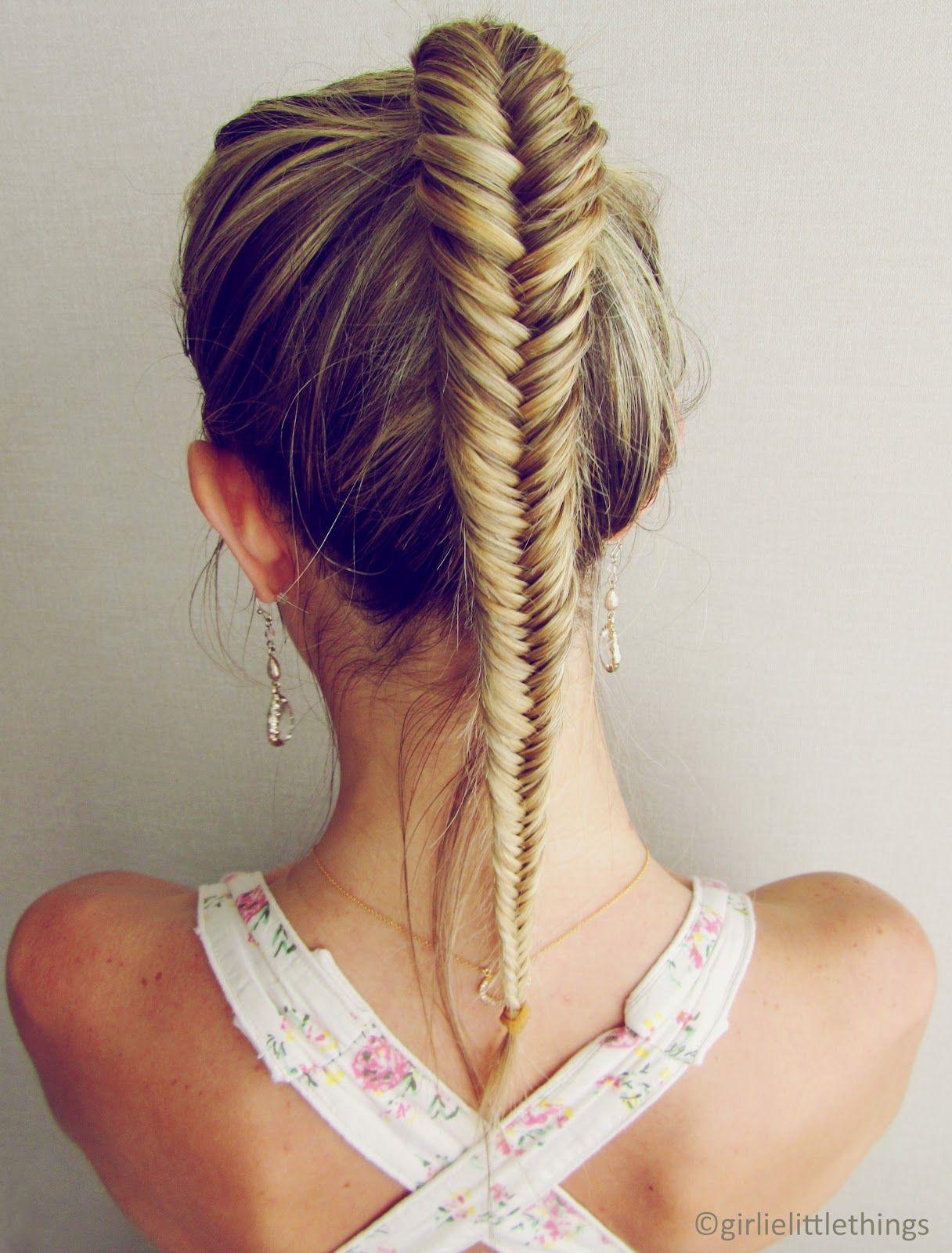Burcu Arkut A Perfect Braid Hair Styles Fishtail Ponytail Fish Tail Braid