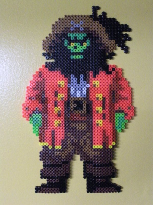 Hama Beads Monkey Island Art