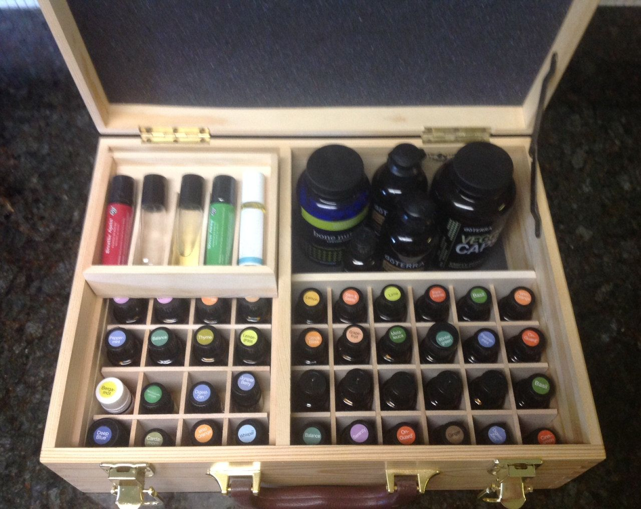 Essential Oil Storage Box Case Holder Display Storage