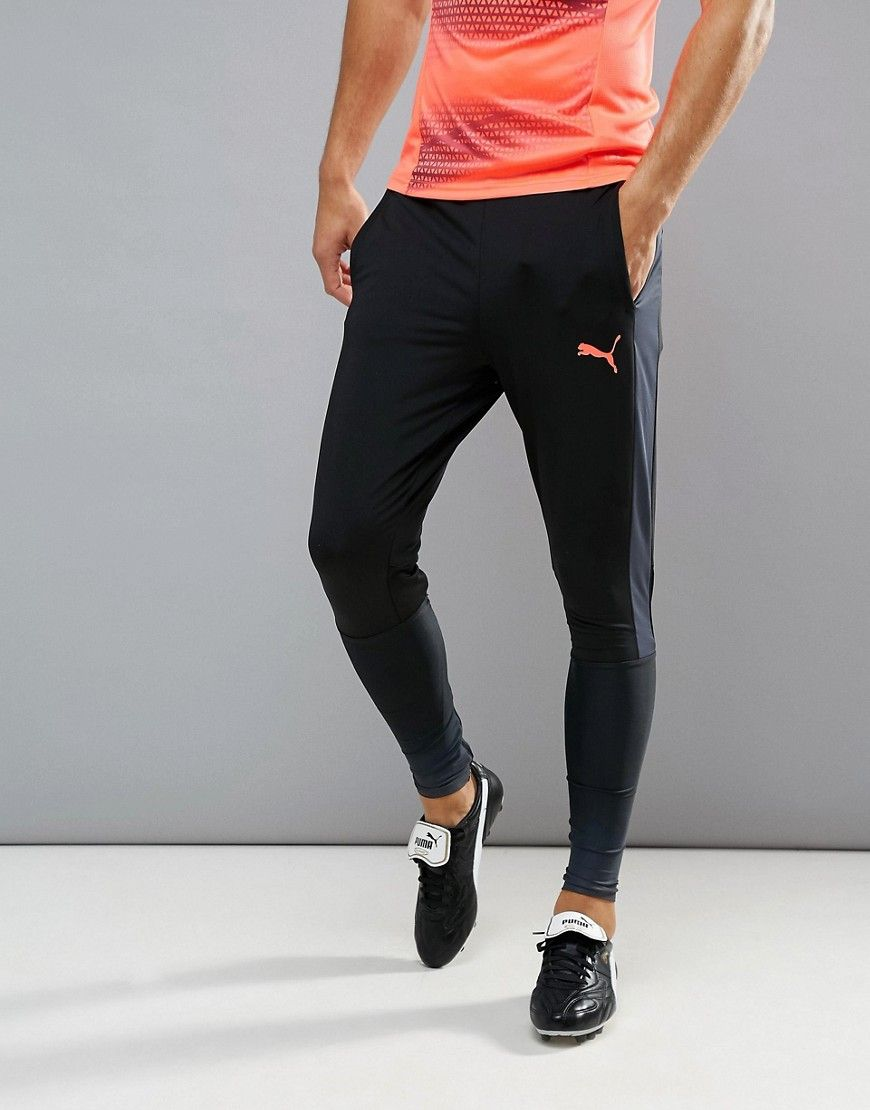41311927f PUMA SOCCER EVOTRG TRAINING TECH PANTS IN BLACK 65536106 - BLACK. #puma  #cloth #