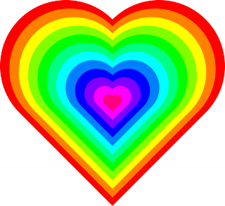 Optimism Is Good For Your Heart Colorful Heart Love Heart Gif Rainbow Heart
