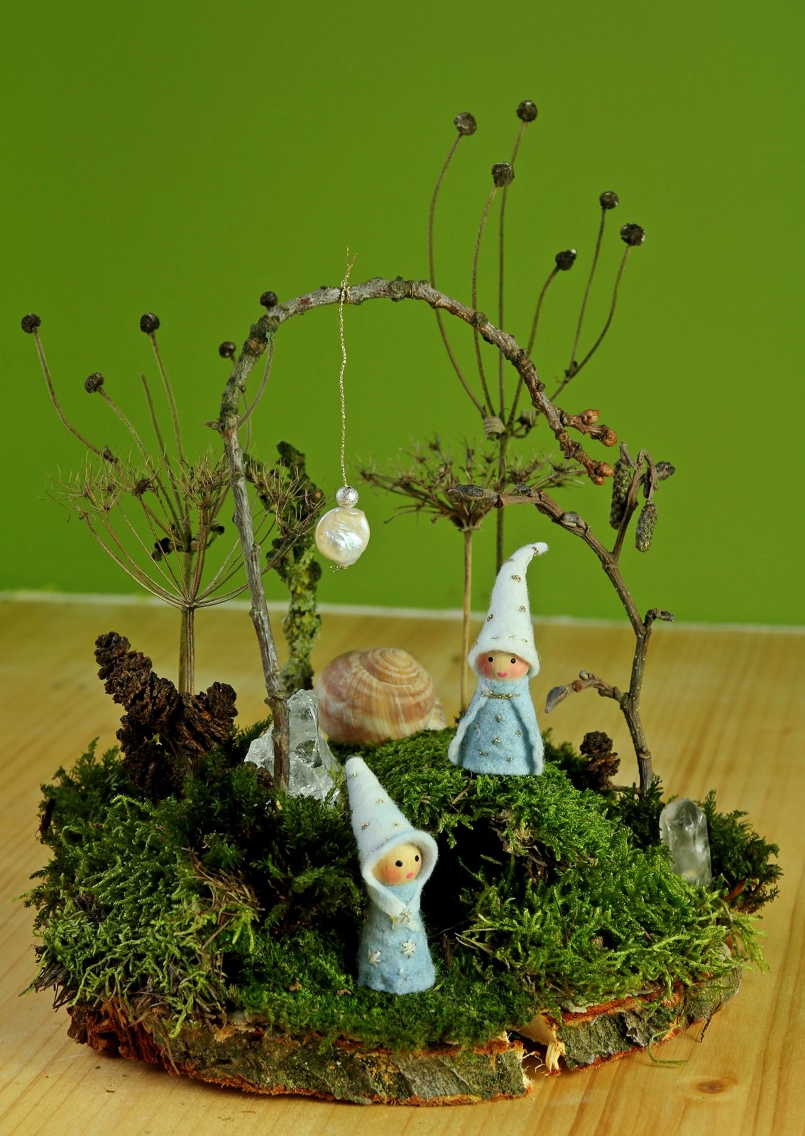 Kathi Pirati: Basteln mit Naturmaterial: Moosgärtchen #weihnachtsbastelnnaturmaterialien