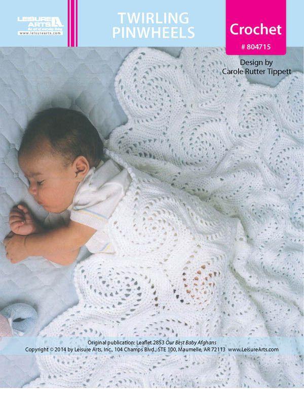 Twirling Pinwheels Baby Afghan ePattern - Leisure Arts | Crochet ...
