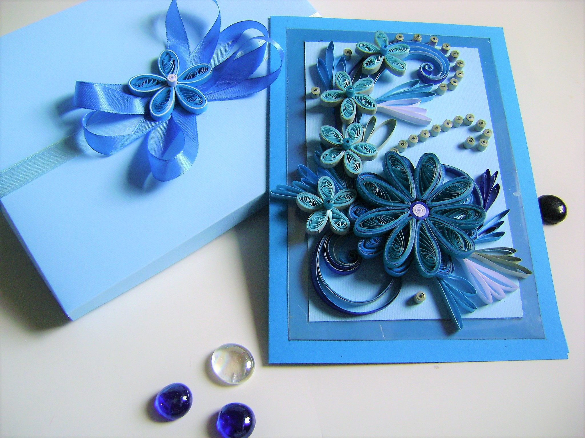 Quilling Greeting Cardelegant Quilled Cardongratulationhandmade