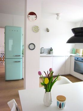 die sch nsten k chen ideen ideas for a future home pinterest smeg fridge american kitchen. Black Bedroom Furniture Sets. Home Design Ideas