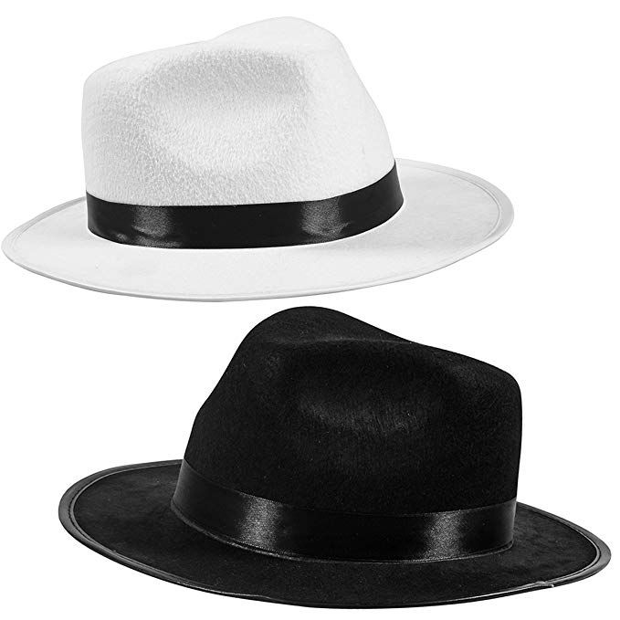 Blue Brothers Fedora Hat Costume accessorio