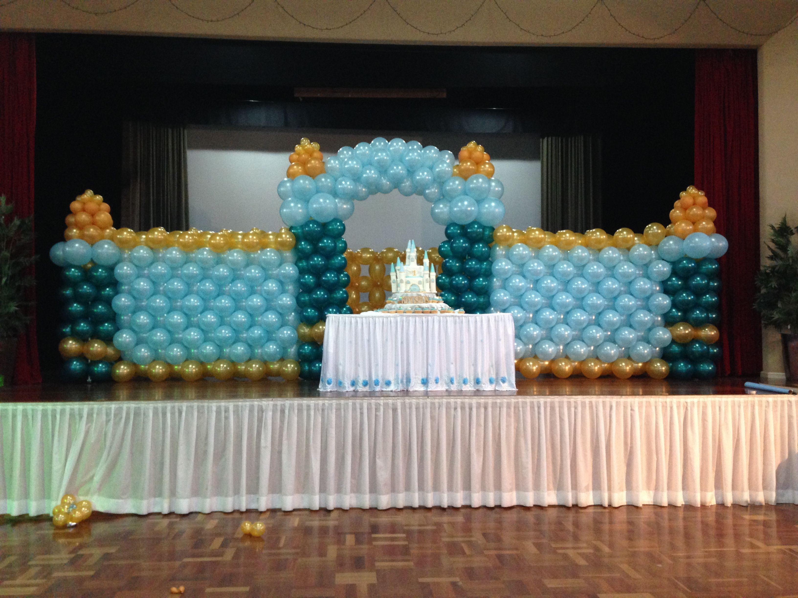 this special christening was just amazing with a custom made this special christening was just amazing with a custom made balloon castle wall www