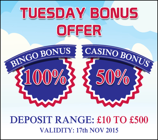 Everyday we have a new treat for you on #GameVillage. Have a #HappyTuesday with your favorite bingo and casino games!   Deposit £10 here https://www.gamevillage & win additional bonuses.   Validity : 17th November, 2015  For Bonus & Withdrawal Rules visit https://www.gamevillage.com/terms-and-conditions