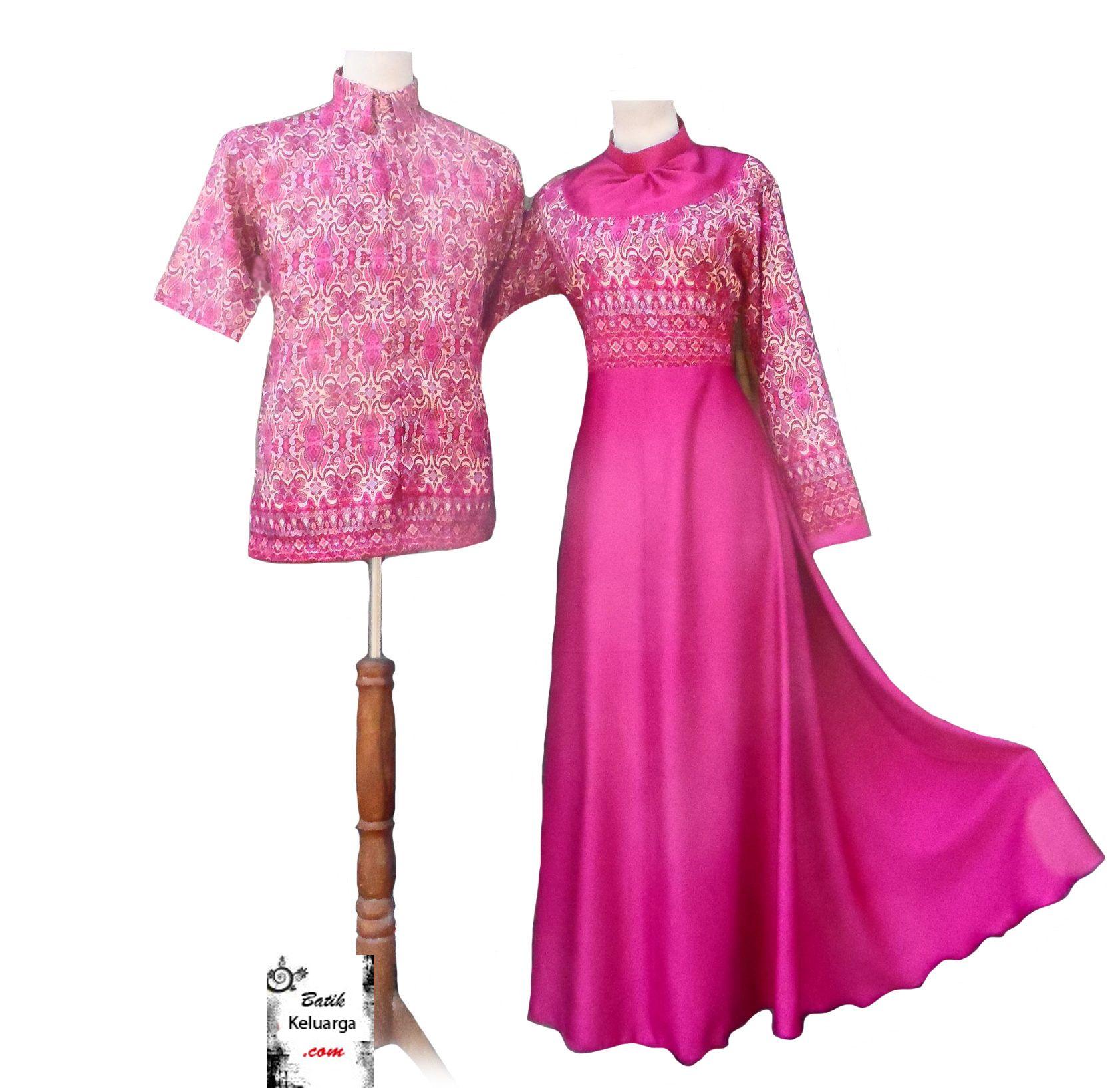 Baju Pesta Suami Istri Batik Keluarga Pinterest