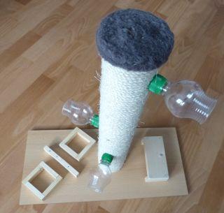 ein fummelbrett f r die katze einfach selber bauen diy kassidele pinterest katzen. Black Bedroom Furniture Sets. Home Design Ideas