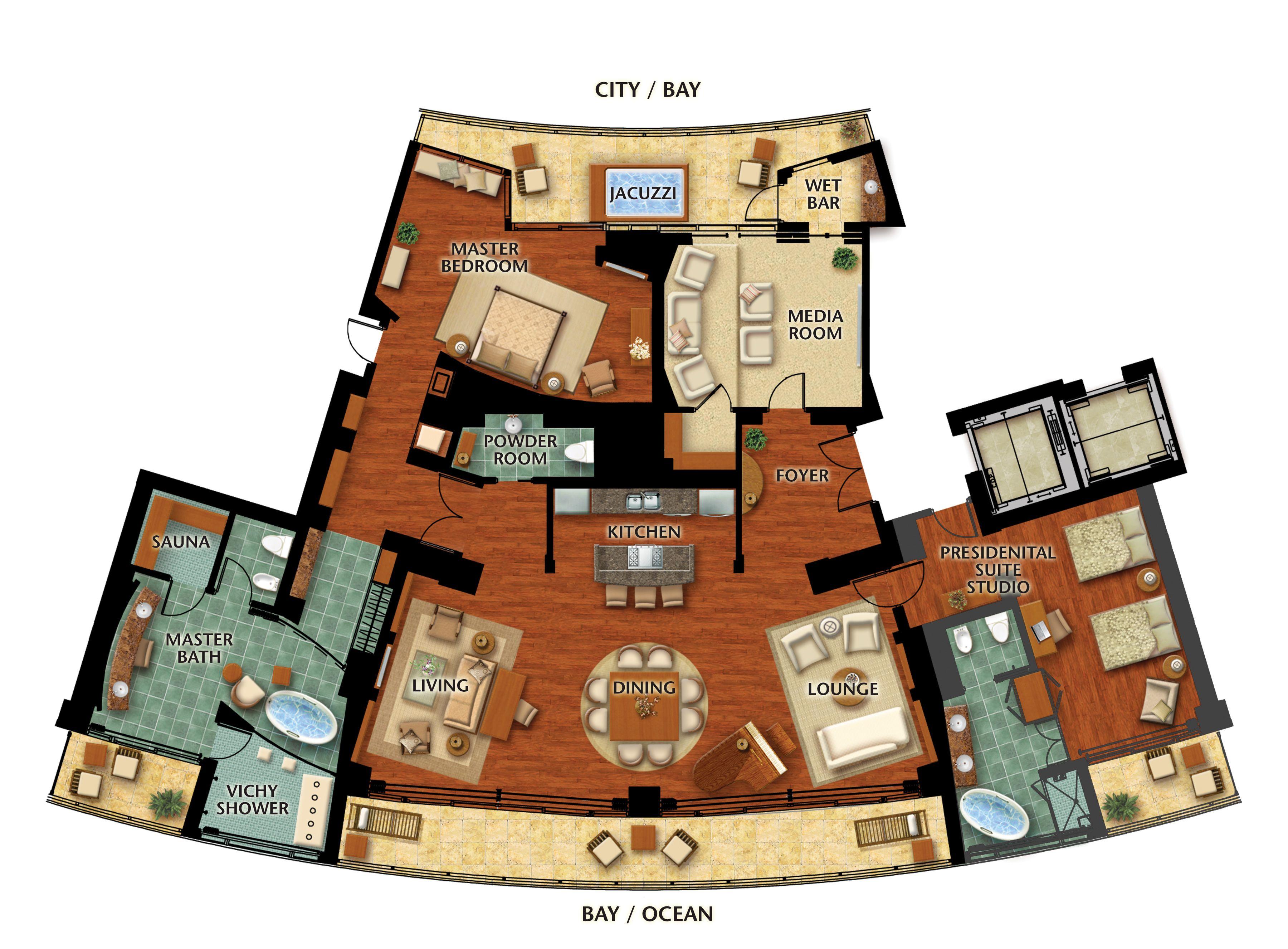 Resort Floor Plans Presidential Suite Floor Plan
