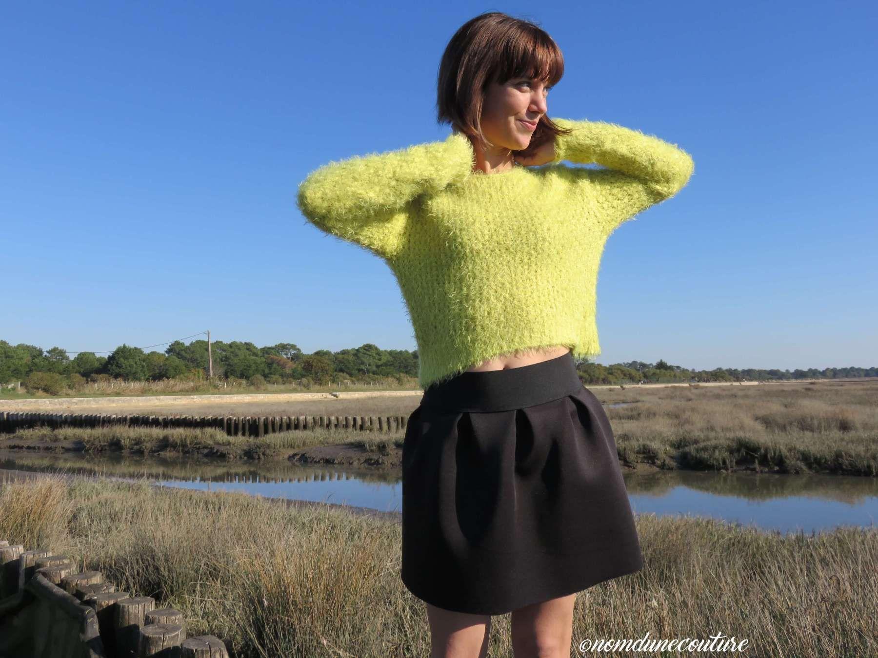 Tuto : réaliser une jupe néoprène