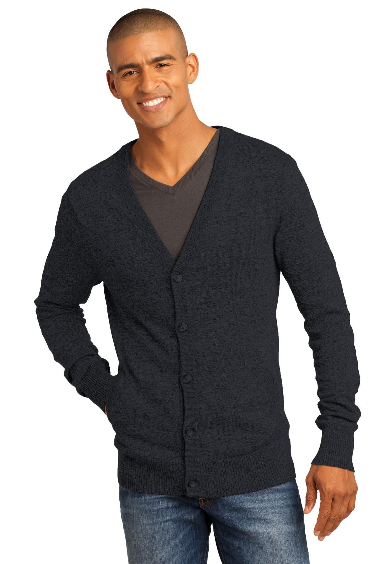 Button up your look with our updated cardigan in two-toned color ...
