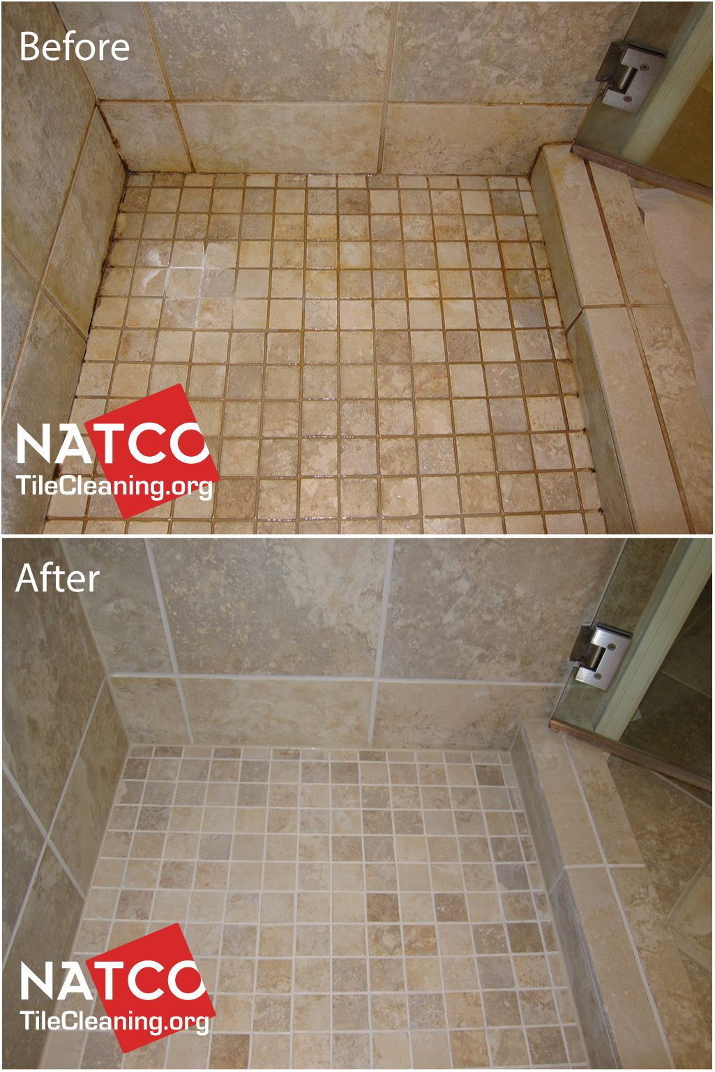 Cleaning Colorsealing Regrouting A Dirty Shower With