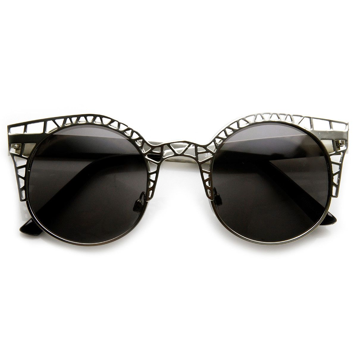 be77a15012a8 Unique designer inspired metal frames in geometric laser cut design. Theses  unique sunnies are taken from fantastic to fabulous thanks to plenty of  cutouts ...