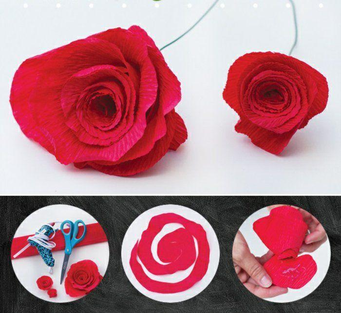 Comment Creer Une Fleur En Papier Crepon Archzine Fr Fleur Papier Crepon Fleurs En Papier Papier Crepon