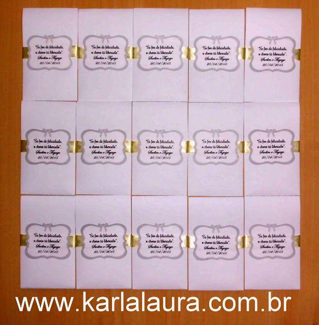 Karla Laura Convites, Lembranças e Papelaria Personalizada: Lenço para lágrimas de alegria + Caixas para damas...