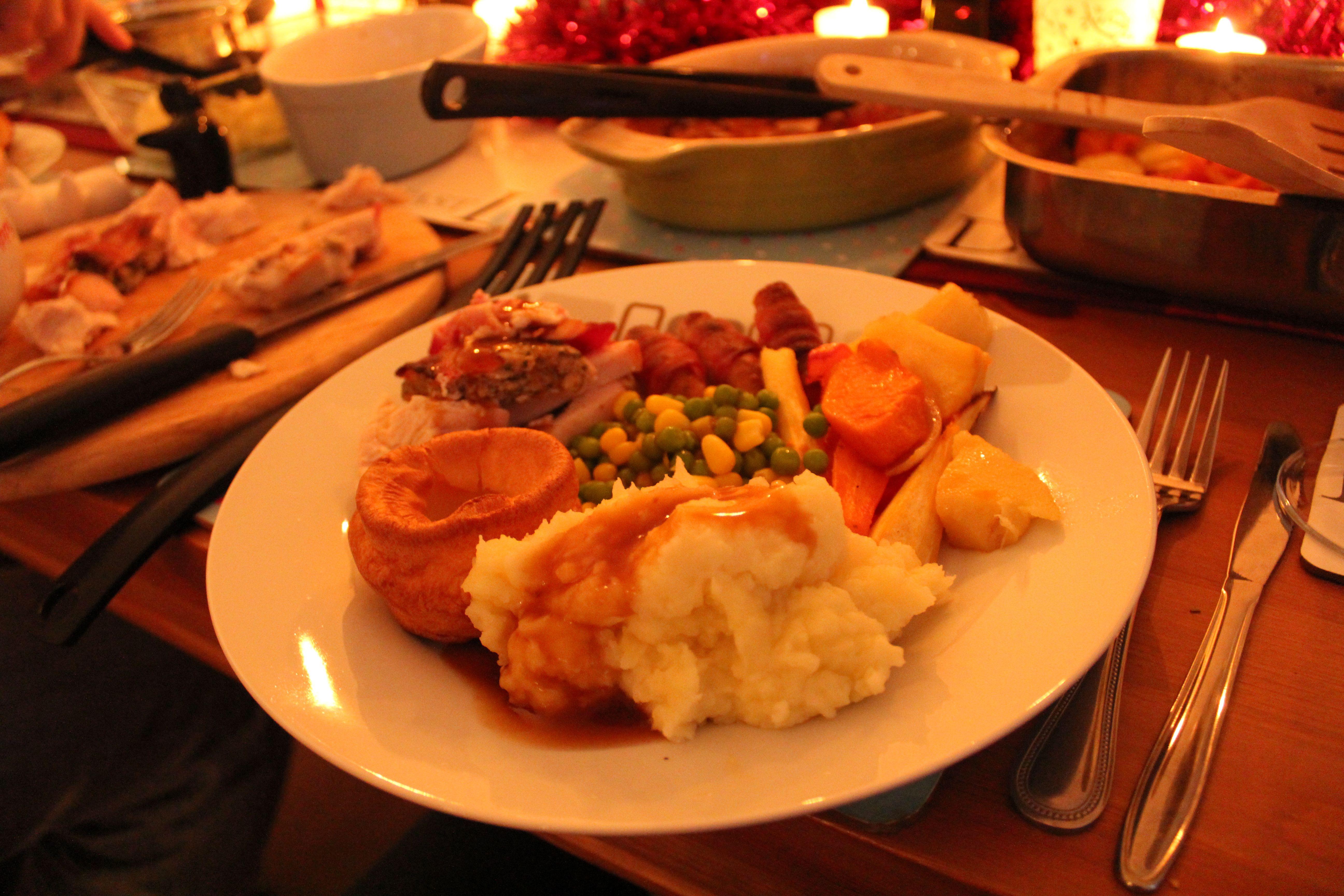 English Traditional Christmas Dinner Traditional