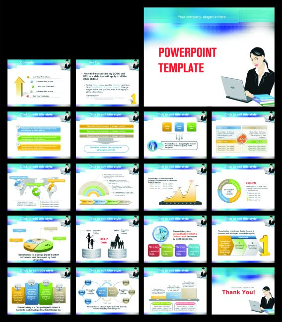 Computer training center PPT templates download ppt background - interactive powerpoint template