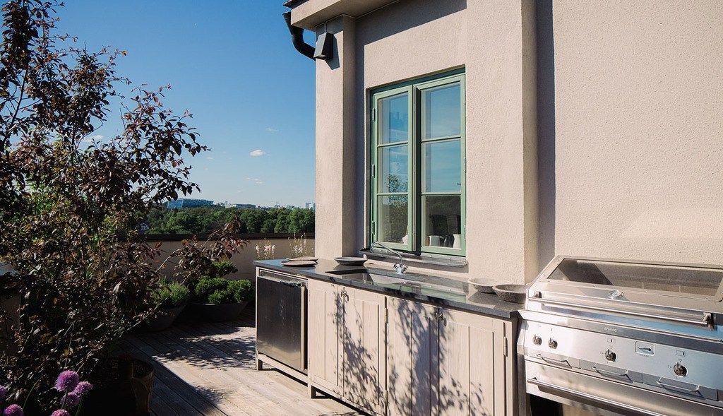 Cocinas exteriores para las terrazas Interiors