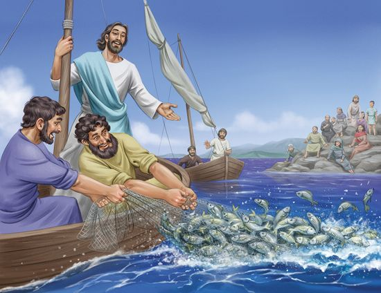 Lesson 2 jesus teaches from the boat luke 5 1 11 for Fishing in the bible