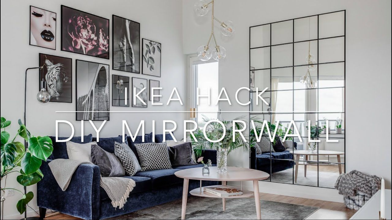 Photo of IKEA HACK DIY Industrial Mirror wall under 85 $