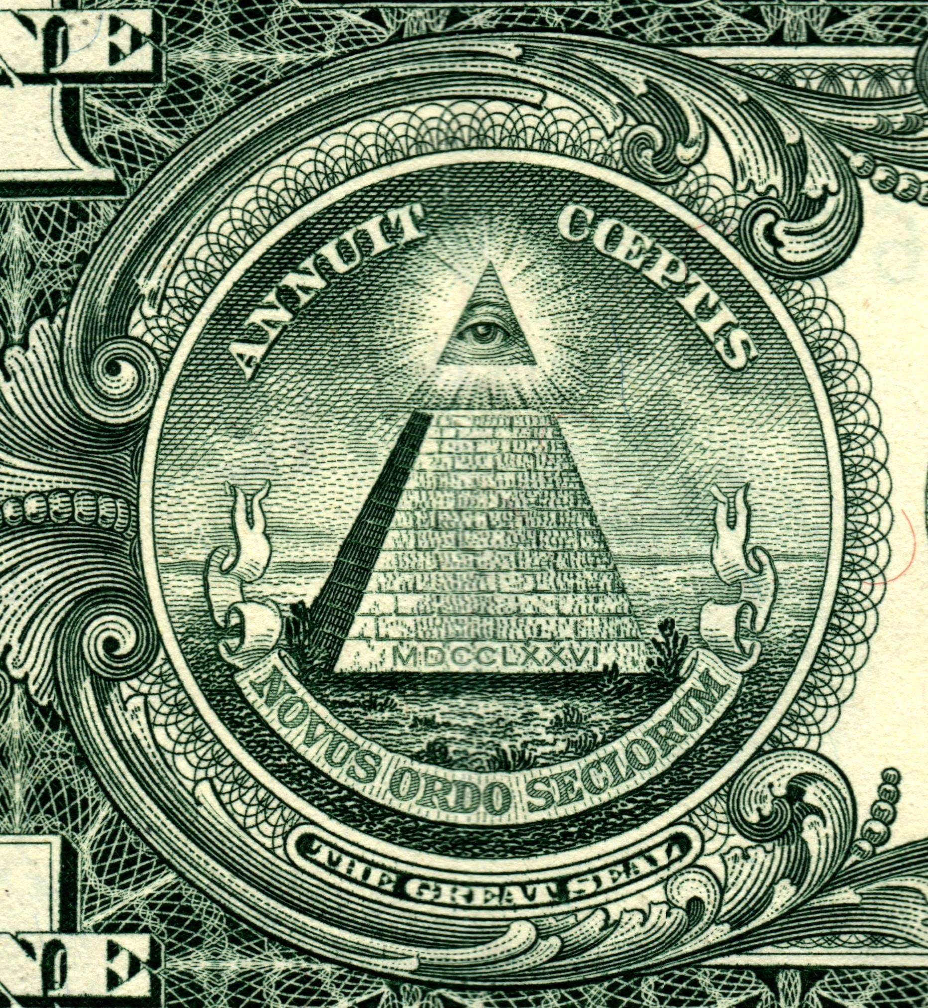 The eye of providence on the american one dollar bill of the eye of providence on the american one dollar bill biocorpaavc Images